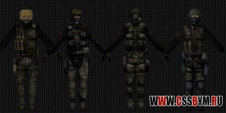 Скачать скины CT Packs - Kfu's CoD4 WoodLand SAS v.2