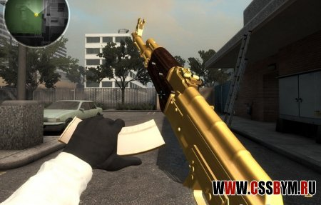 Скачать модель АК 47 для Counter-Strike: Global Offensive - Golden Ak47
