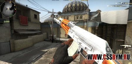 Скачать модель АК 47 для Counter-Strike: Global Offensive - Simple Chrome Ak47