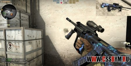 Скачать модель AUG для Counter-Strike: Global Offensive - AUG Skin Black