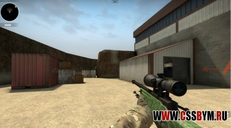 Скачать модель AWP для Counter-Strike: Global Offensive - Green Camo with Black Scope