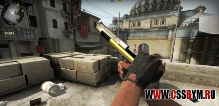 Скачать модели оружия для CSGO Desert Eagle -  Two tone desert eagle with wood grip