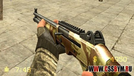 Скачать xm1014 Desert Camo для Counter-Strike Source