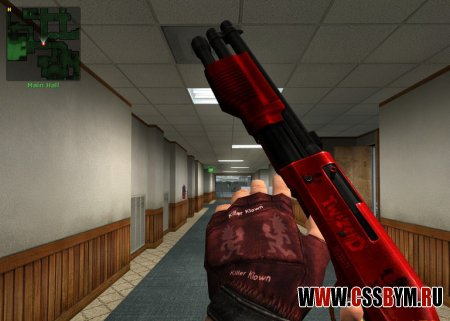 Скачать дробовик для Counter-Strike: Source - Cherry Red and Black M3